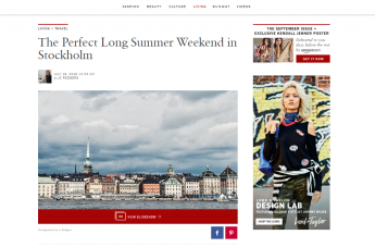 Vogue - The Perfect Long Summer Weekend in Stockholm