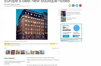 Europe´s best new boutique hotels