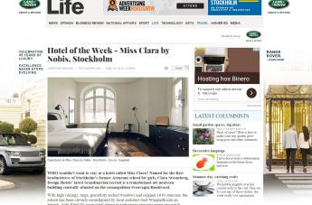 Hotel of the Week - Miss Clara by Nobis, Stockholm