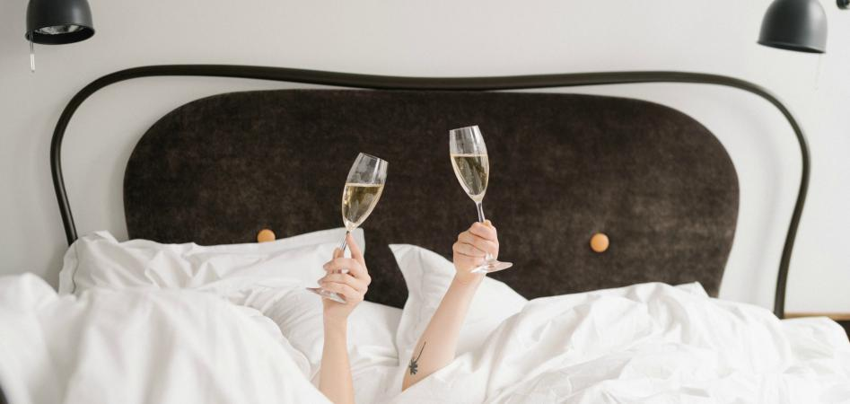 bed selfie stories σε boutique ξενοδοχείο